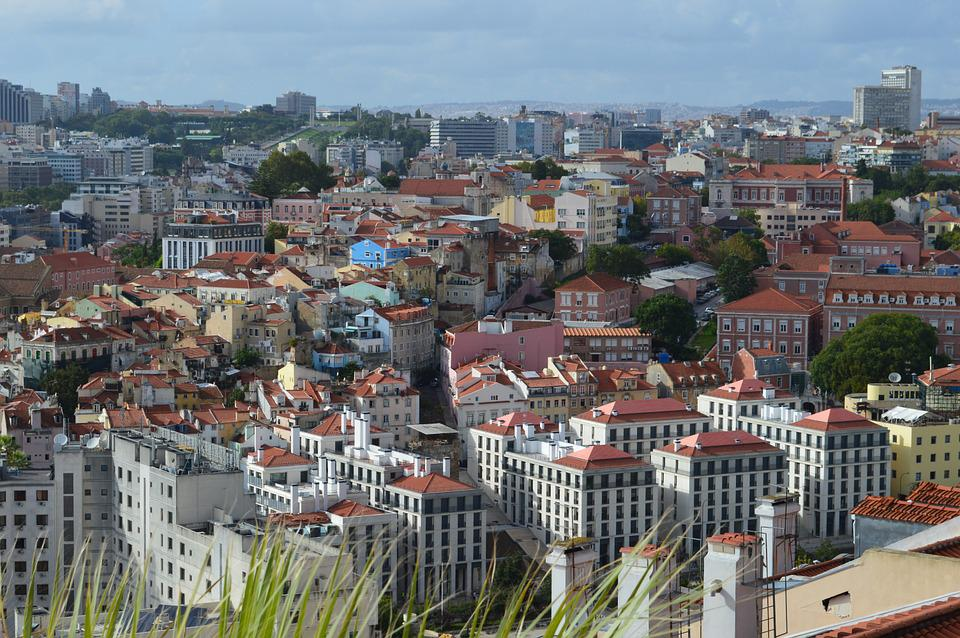 Roofs, View, City, Houses, Portugal, City view
