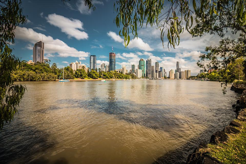city scape where there are many businesses for sale in Brisbane