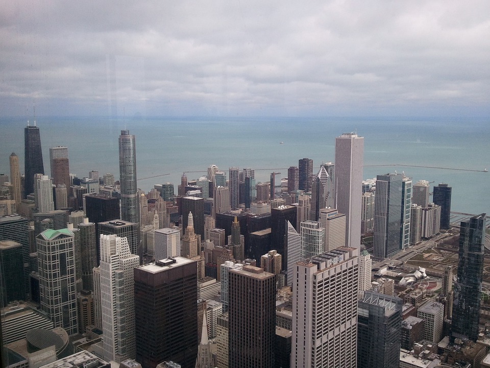 Chicago, City, Cityscape, Usa, Metropole, Skyline