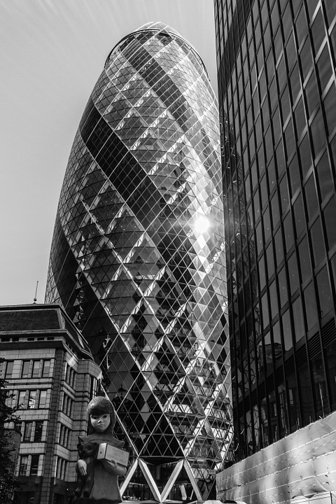 Gherkin, London, City, Tower, Architecture, Cityscape