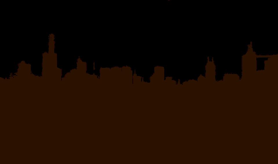 Cityscape, Skyline, Silhouette, Black, Buildings, City