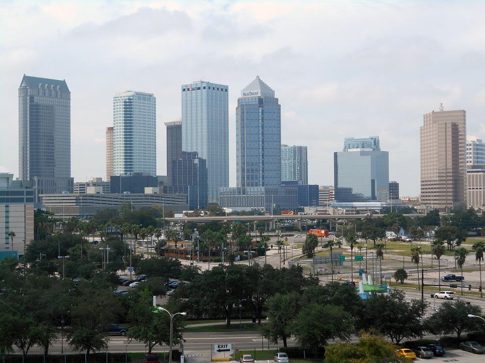 Tampa, Skyline, Florida, City, Cityscape