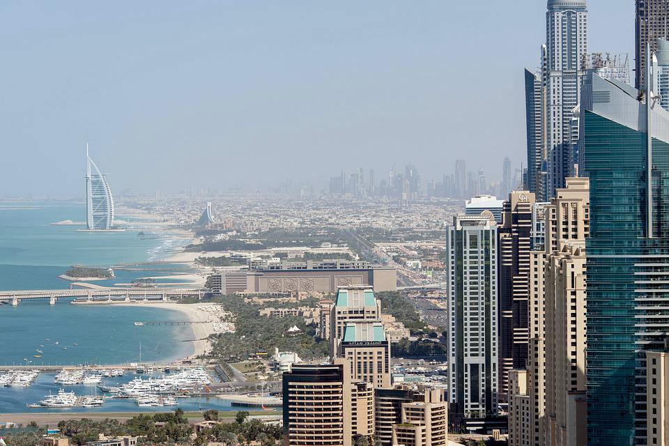 Dubai, Building, Tower, Property, Cityscape, Town