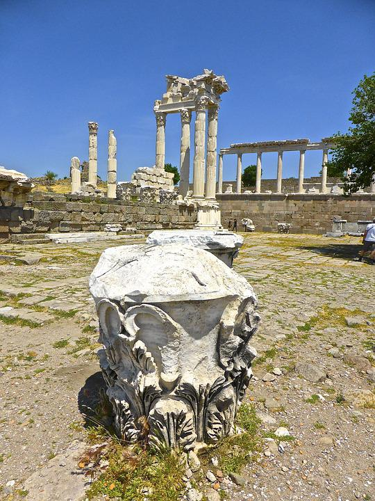 Ruin, Stone, Pergamon, Archaeological, Civilization
