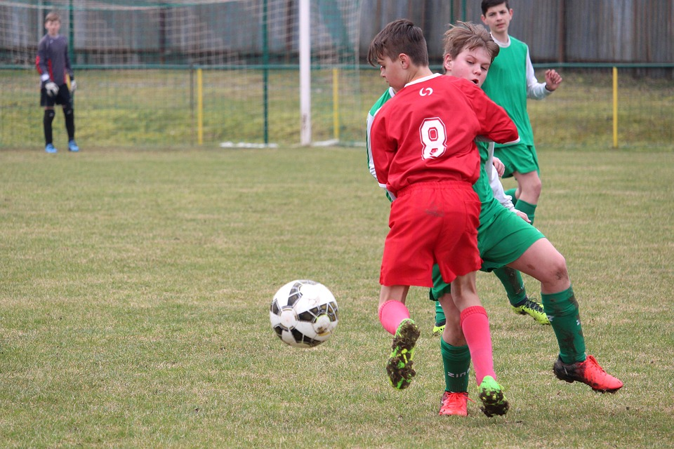 Clash Of The, A Duel For The Ball, Football, Pupils