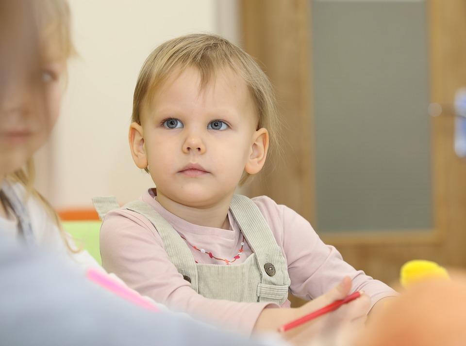 Baby, Classes, Kindergarten, School, Cute, Girl, Lesson