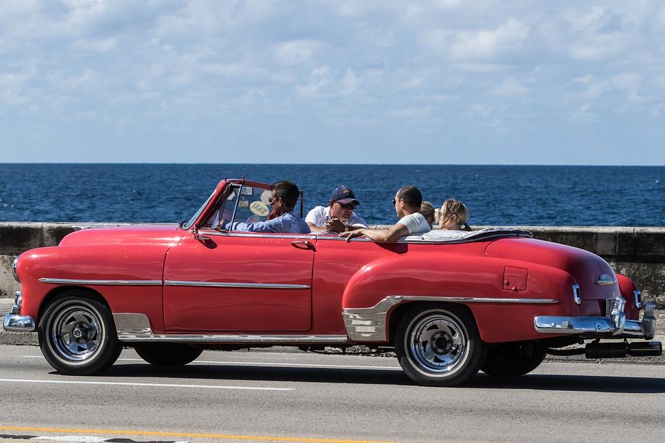 Cuba, Havana, Malecon, Almendron, Taxi, Chevy, Classic