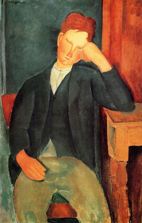 Art, Classic Artwork, Modigliani, Peasant Boy