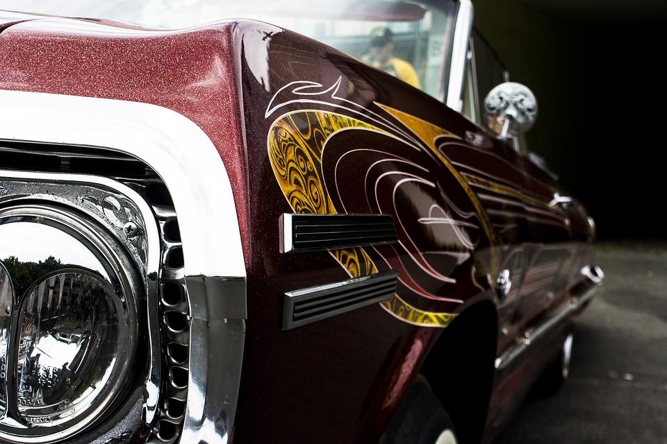 Auto, Classic, Chrome, Wheel, Drive, Vehicle