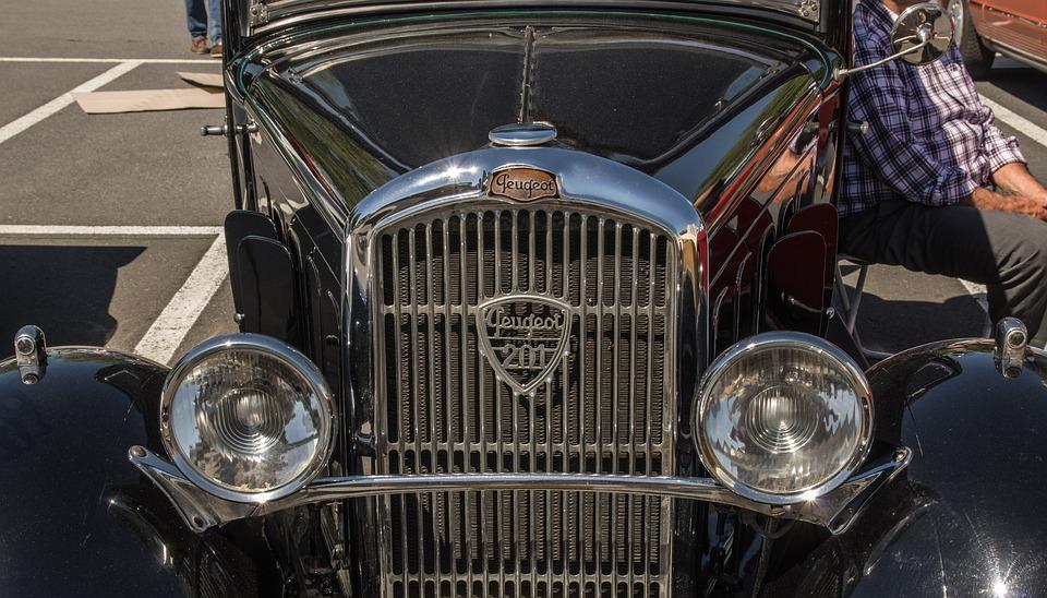 Peugeot, Oldtimer, Grille, Automotive, Classic, Pkw