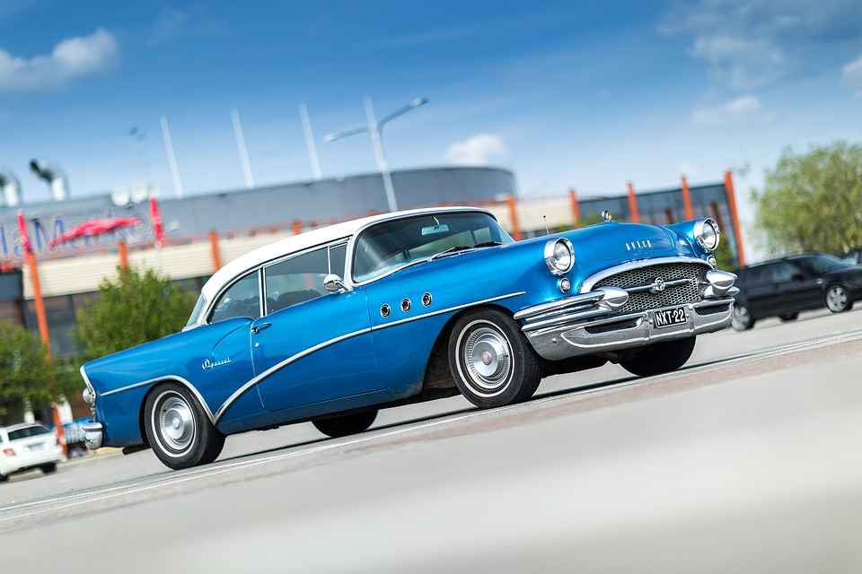 Buick, Oldtimer, Special, 1955, Old, Car, Blue, Classic