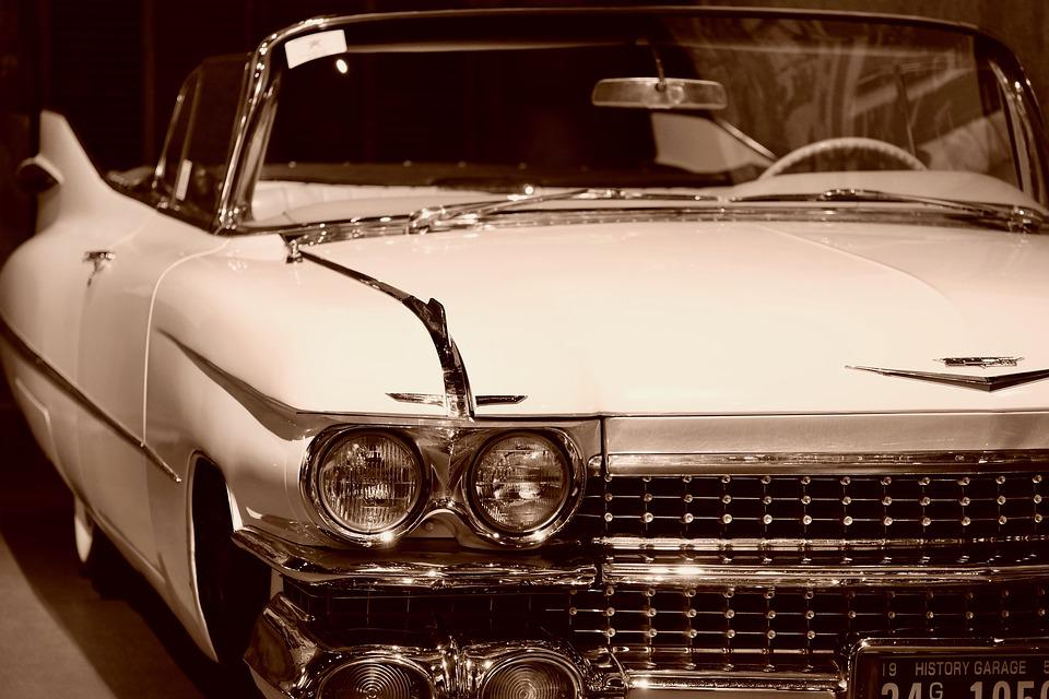 Classic Car, Open Car, Cadillac, Vintage