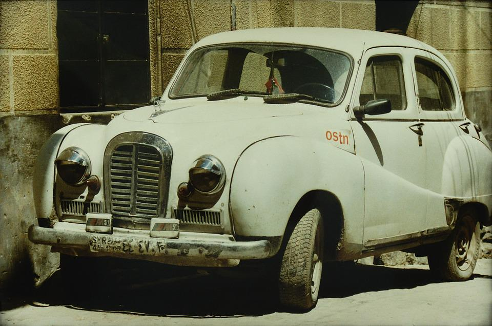 Aleppo, Syria, Car, Old, Front, Classic, Oldtimer
