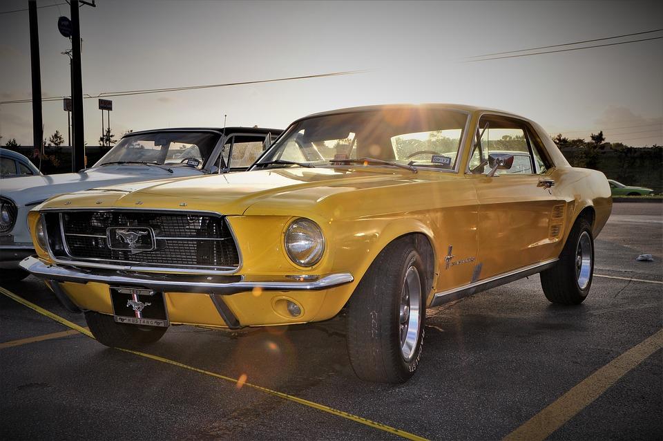 Free Photo Classic Car Muscle Car Hot Rod Yellow Max Pixel