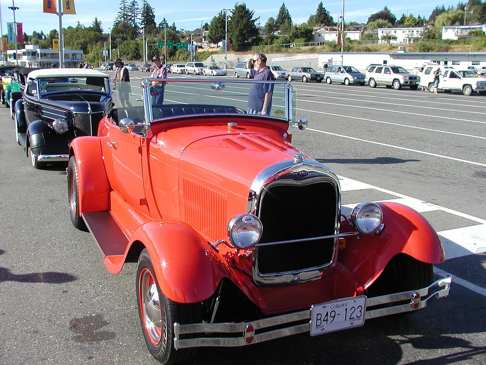 Car, Automobile, Oldtimer, Red, Old Car, Classic Car
