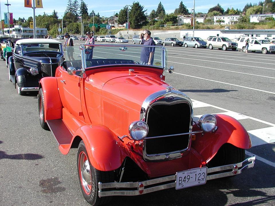 Car, Automobile, Oldtimer, Red, Old Car, Classic Car