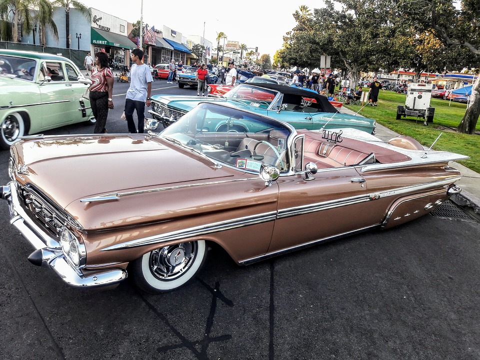 Free photo Classic Cars Route 66 Car Show Old Cars Chevy - Max Pixel