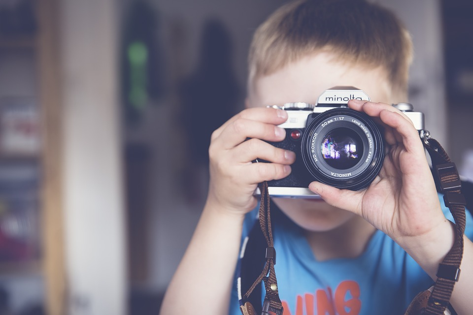 Boy, Camera, Child, Classic, Lens, Minolta