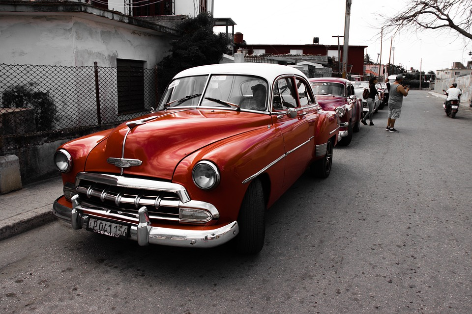 Classic Auto, Cuba, Classic, Vehicle, Cars, Red