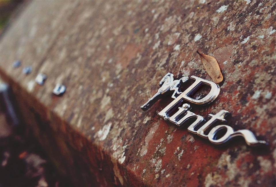 Pinto, Car, Vintage, Old, Rust, Classic, Emblem