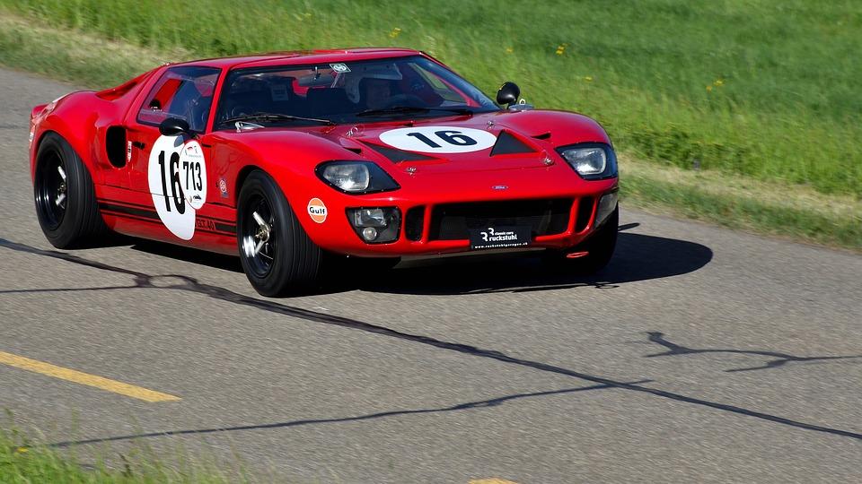 Sports Car Hillclimb Classic Ford Gt  Road
