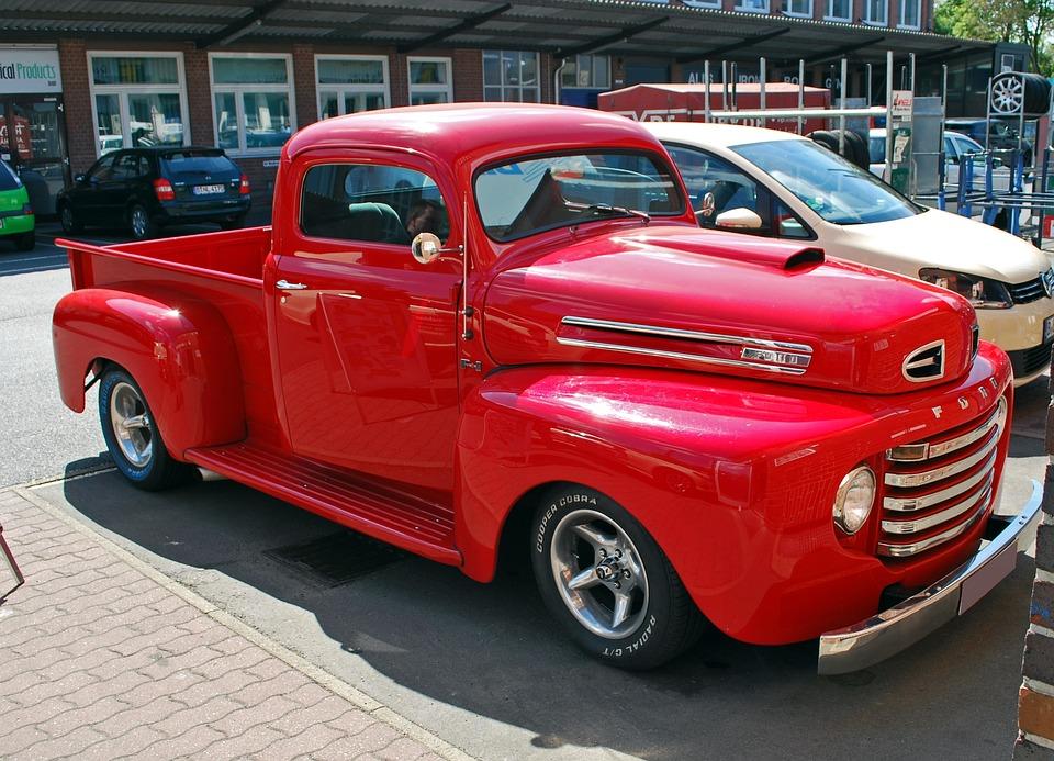 Auto, Ford, Truck, Oldtimer, Classic, Chrome, Usa