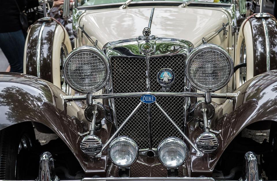 Auto, Jaguar, Oldtimer, Classic, Spotlight, Drive