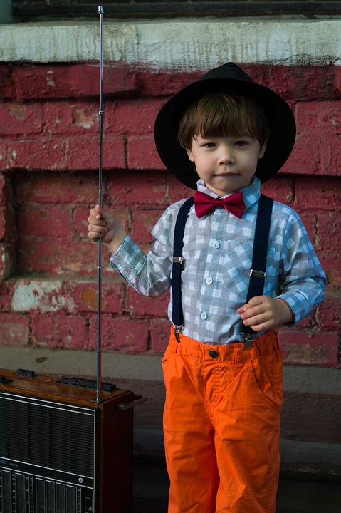 Boy, Radio, Retro, Vintage, Hat, Kids, Classic