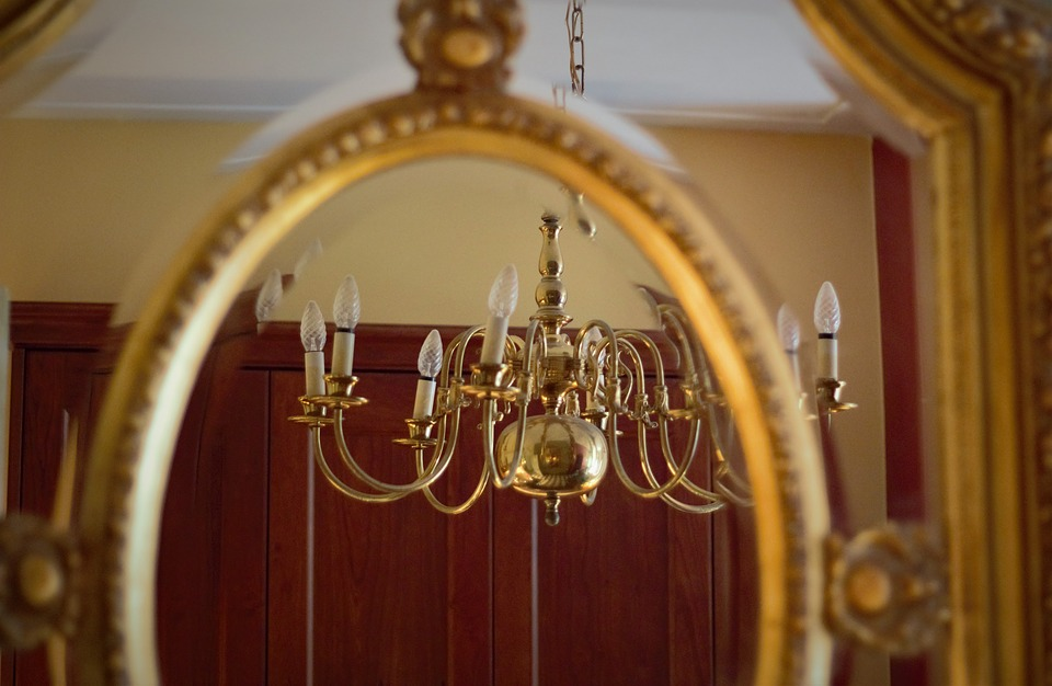 Mirror, Classic, Lamp, Reflect, Flip, Interior, Frame
