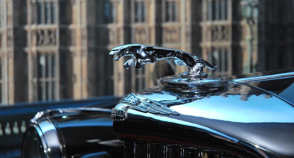 Jaguar, Car, Classic, Limousine, Emblem, Vintage