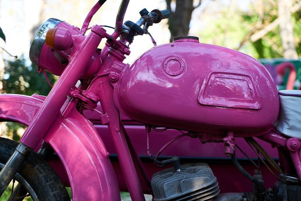 Engine, Purple, Vehicle, Classic, Detail