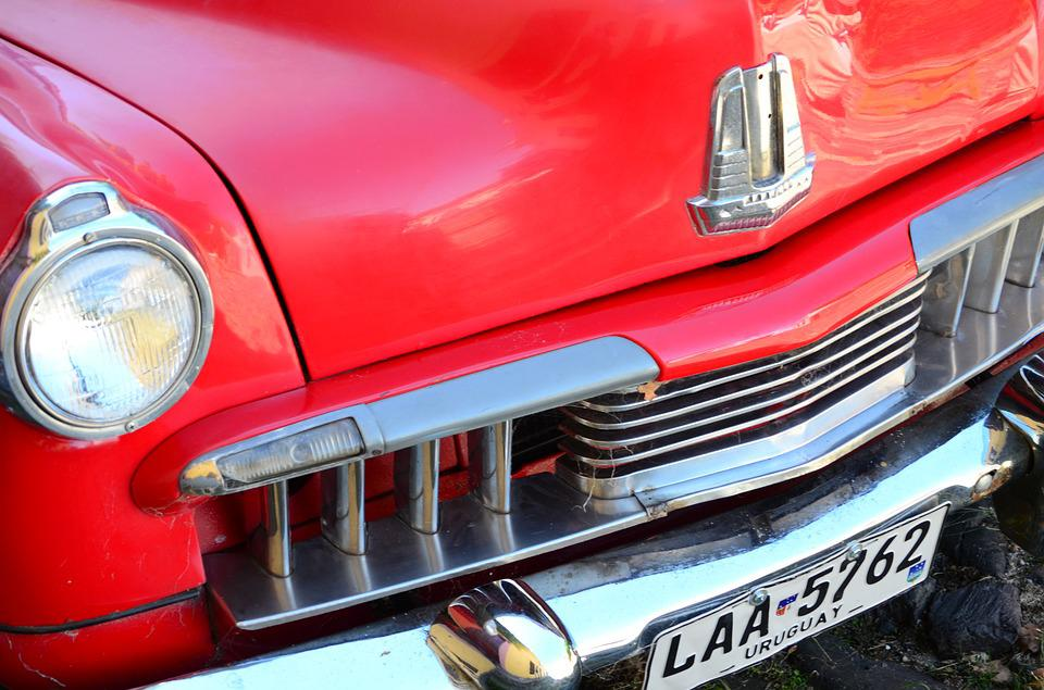 Red Car, Old, Automobile, Vehicle, Classic