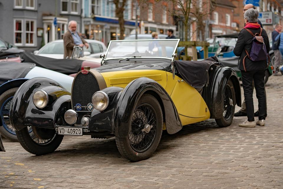 Vehicle, Car, Bugatti, Sports, Vintage, Classic