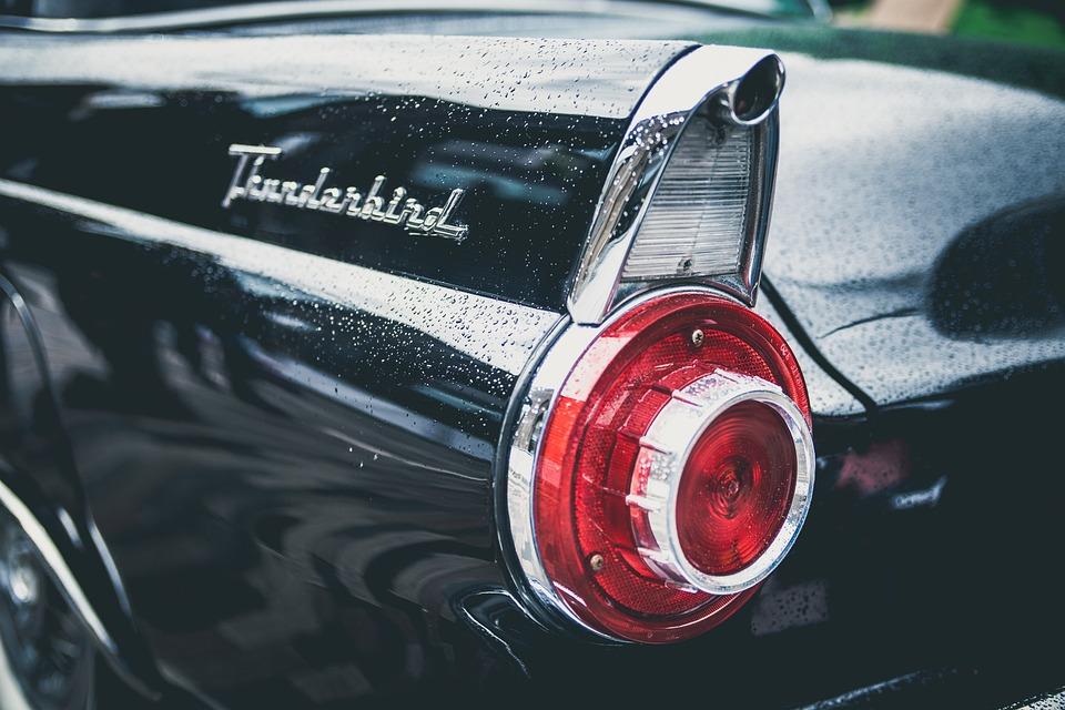 Thunderbird, Car, Vintage, Classic, Retro, Tail Light