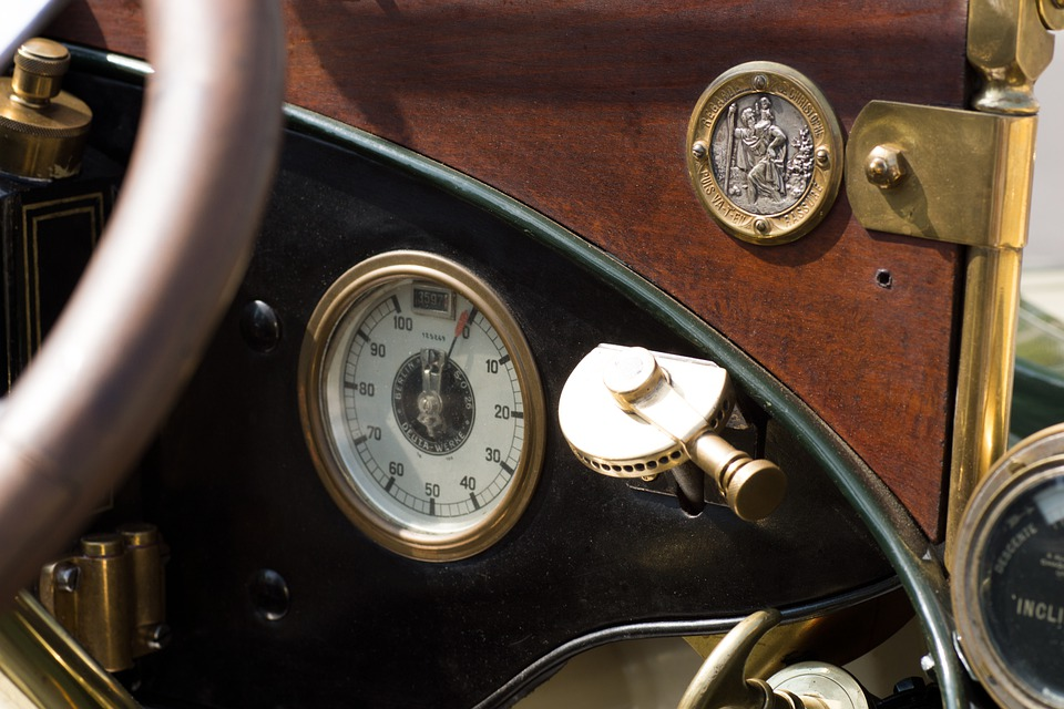 Auto, Oldtimer, Classic, Instruments, Ad, Wood