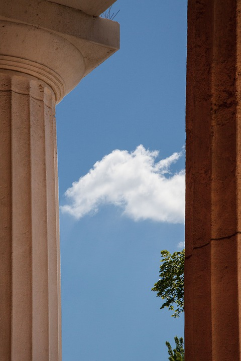 Temple, Doric Columns, Classical Order, Cemetery