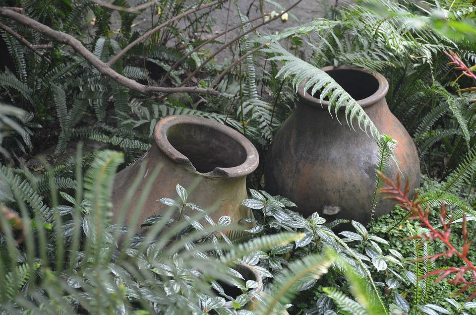 Pottery, Antigua, Guatemala, Old, Authentic, Clay