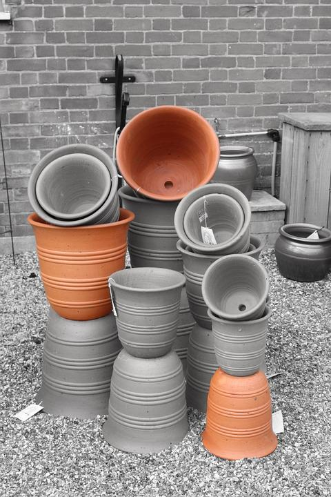 Clay, Pots, Pottery, Ceramic, Brown, Earthenware