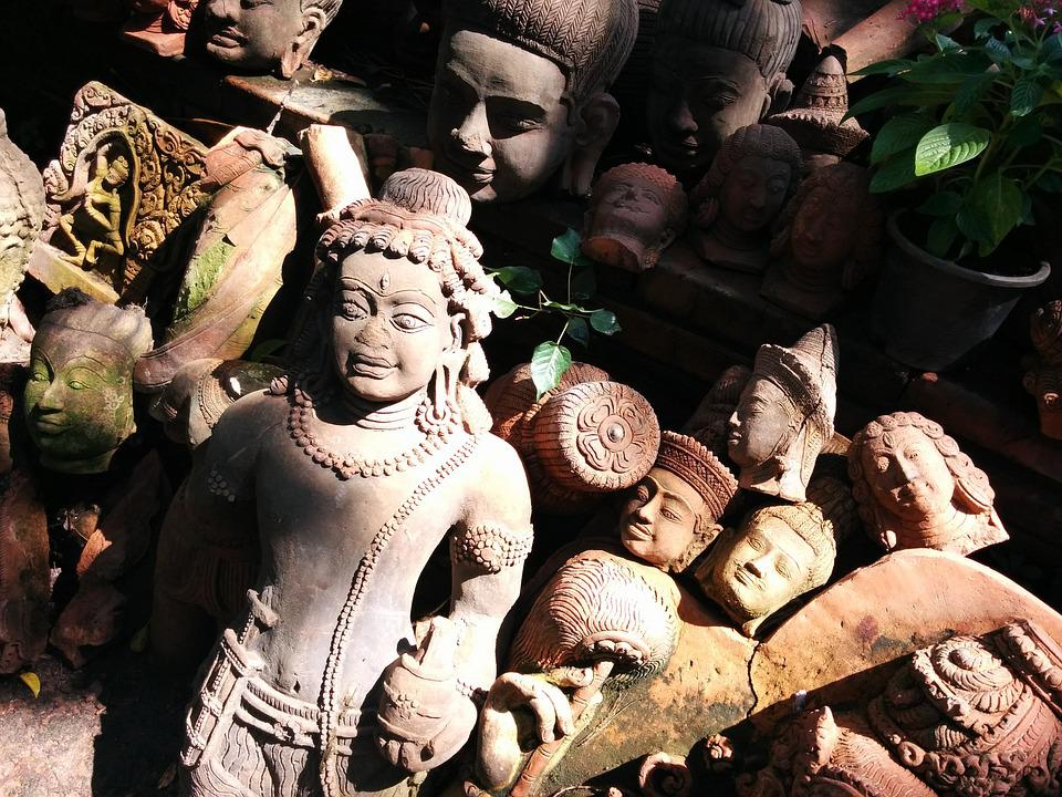 Terracotta, Thailand, Statue, Clay, Pottery, Thai