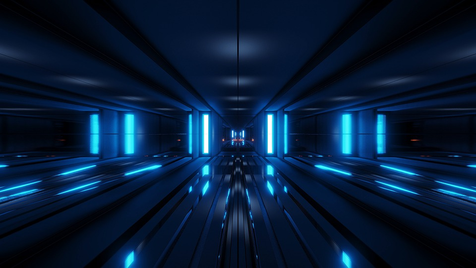 Clean, Tunnel, Sci-fi, Scifi, 3d Rendering