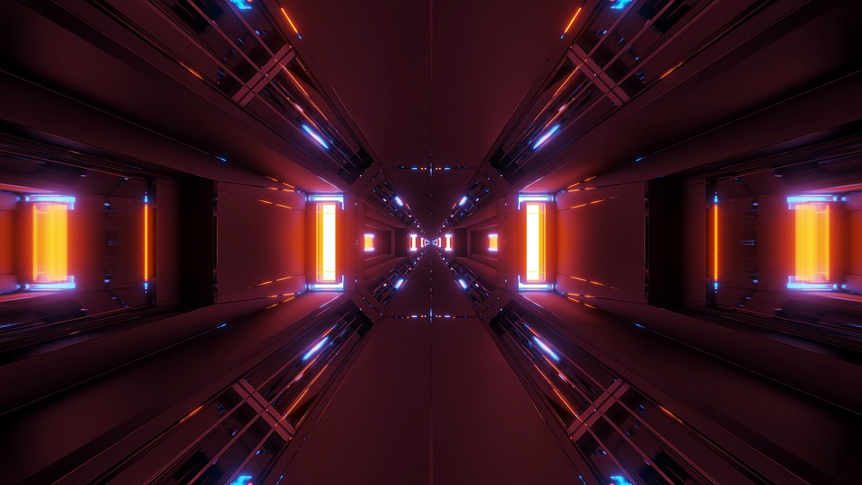 Clean, Tunnel, Corridor, Design, Art, Space Scene