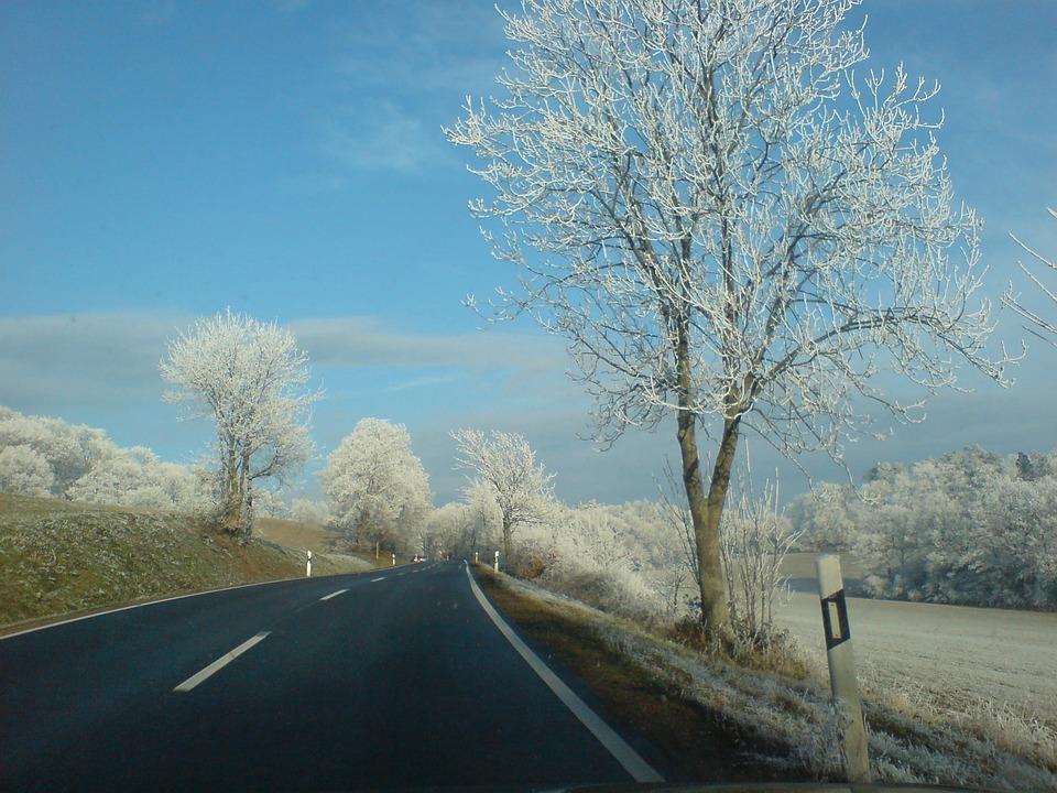 Wintry, Road, Roadway, Winter Dream, Eifel, Clear