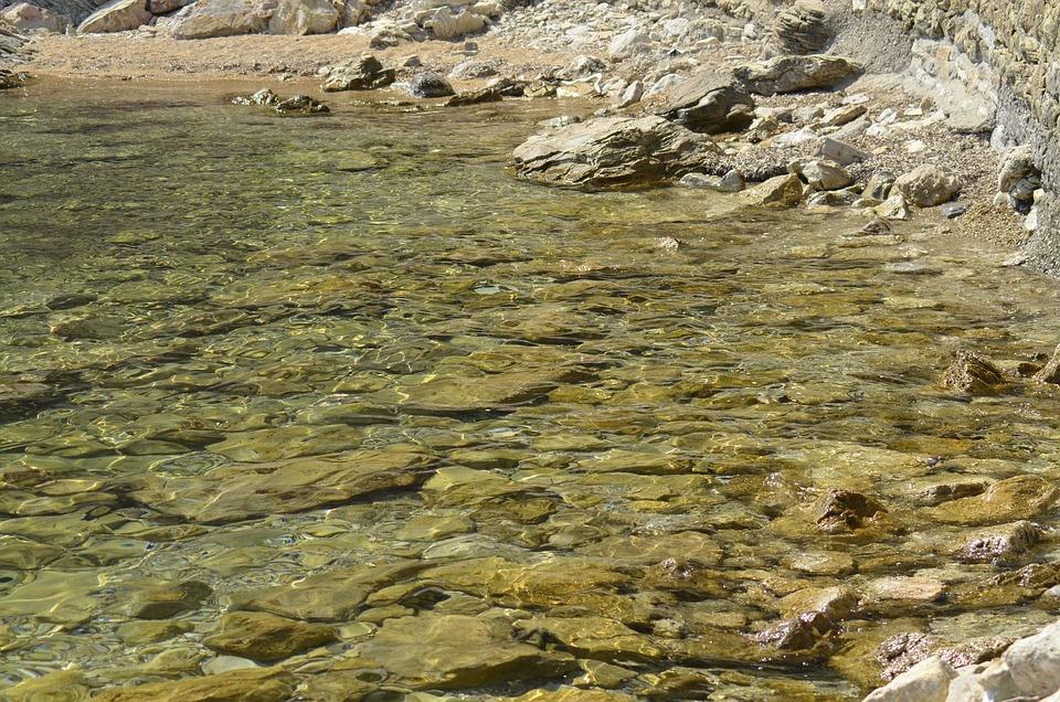 Clear Water, Rocks, Sea, The Adriatic Sea, Empty Beach