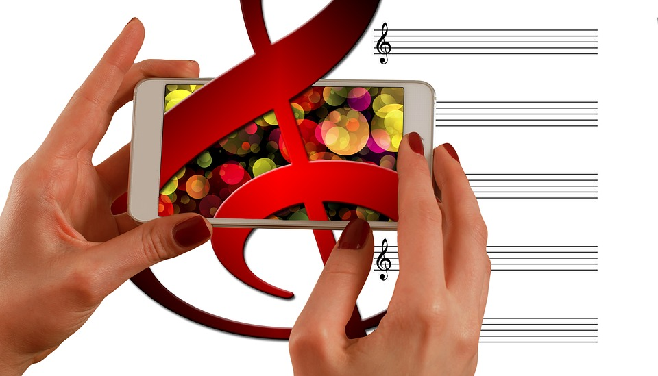 Music, Clef, Smartphone, Application, Audio, Connection