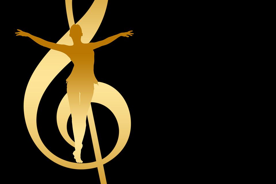 Ballet, Dancer, Clef, Music, Woman, Silhouettes, Dance