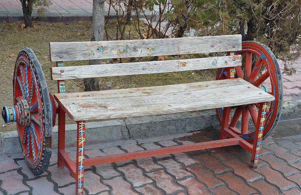 Bank, Bench, Wood, Old, Out, Nature, Click
