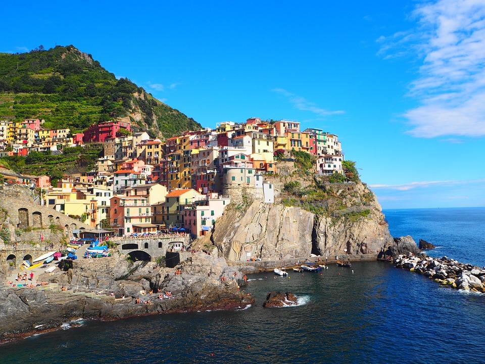 Cinque Terre, Manarola, The Village, Cliff, Sea, Italy