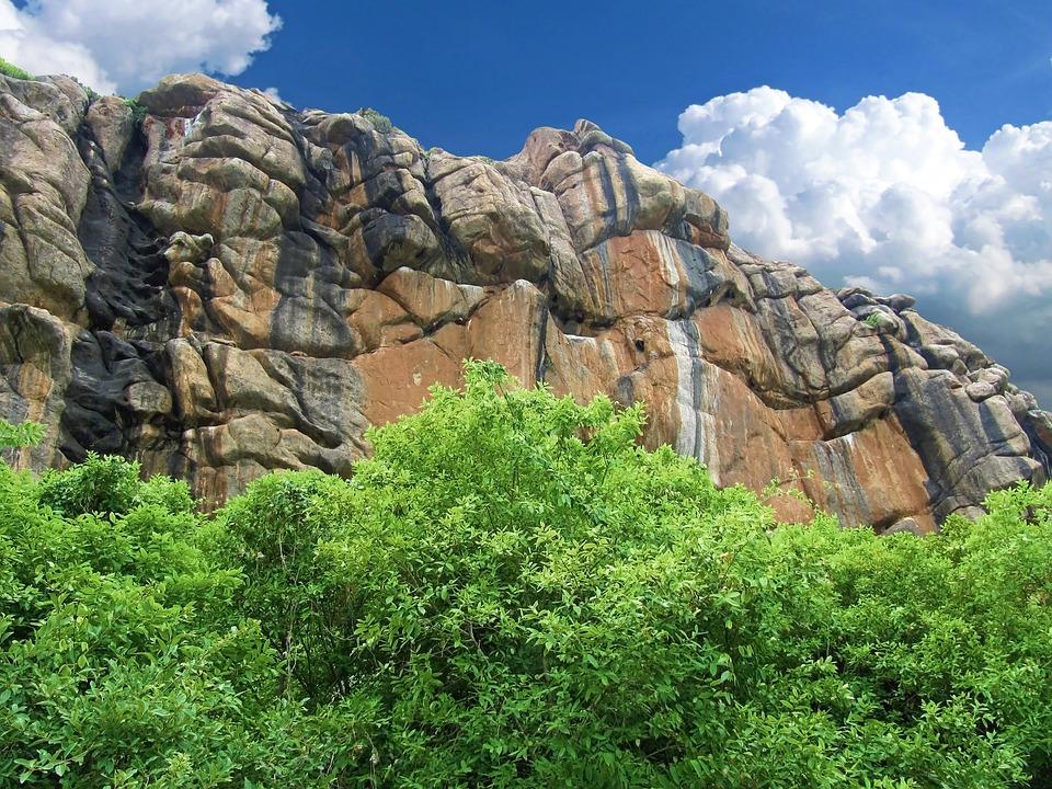 Rock, Cliff, Ridge, India, Big, Large, Brown, Scarp