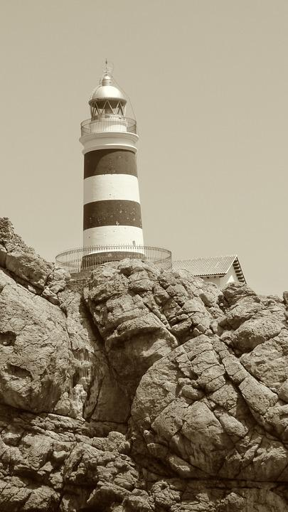 Lighthouse, Cliff, Rock, Mallorca