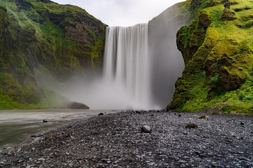 Waterfall, Cliff, River, Falls, Mist, Splash, Nature